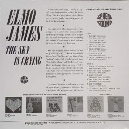 "Vinyle de Elmore James avec ""Dust my broom"", ""the Sky is Crying"""